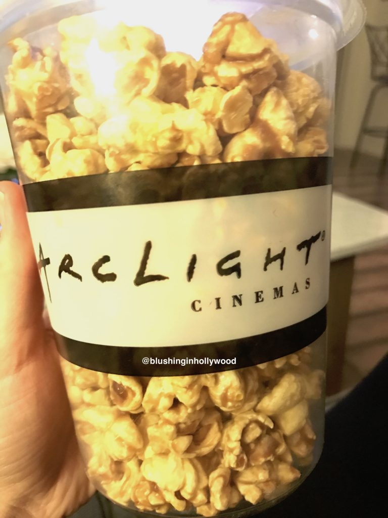 Caramel Popcorn from Arc Light Movie Theater in Hollywood, CA