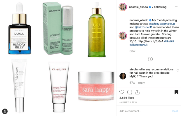 Naomie Olindo's from Southern Charm's Skincare for Winter from @naomie_olindo on Instagram 1.3.18