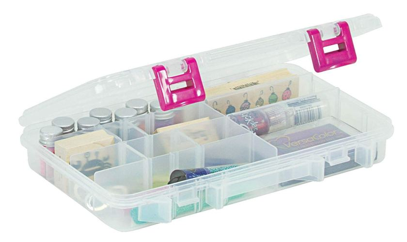 Clear Craft Organizer Box for Bobby Pins and Hair Ties