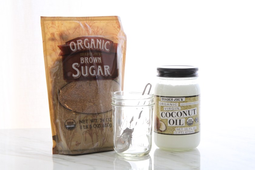 Brown Sugar and Coconut Oil DIY Body Scrub