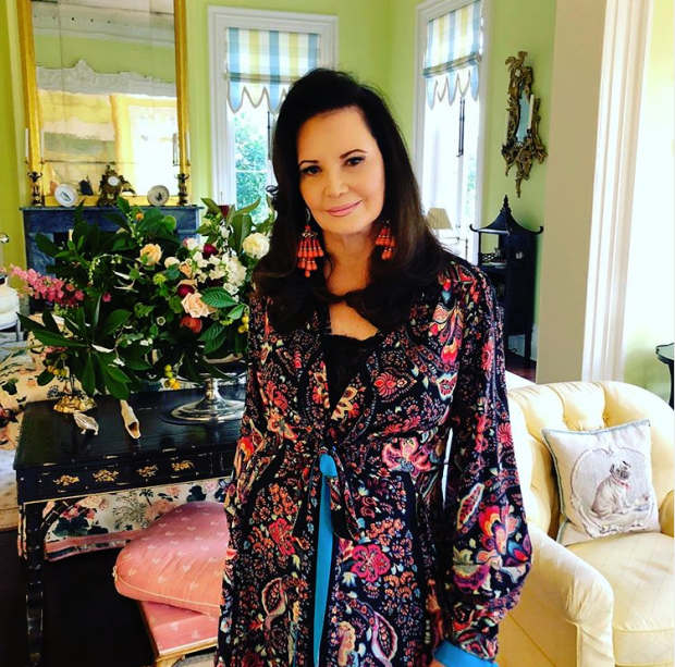 Patricia Altschul in her Isaac Jenkins Mikell House looking as radiant as ever. Photo: @pataltschul on Instagram