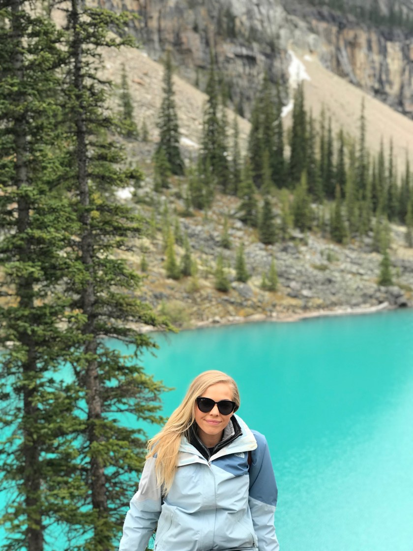 Moraine Lake in Banff is so spectacularly blue it's even more beautiful in person!!