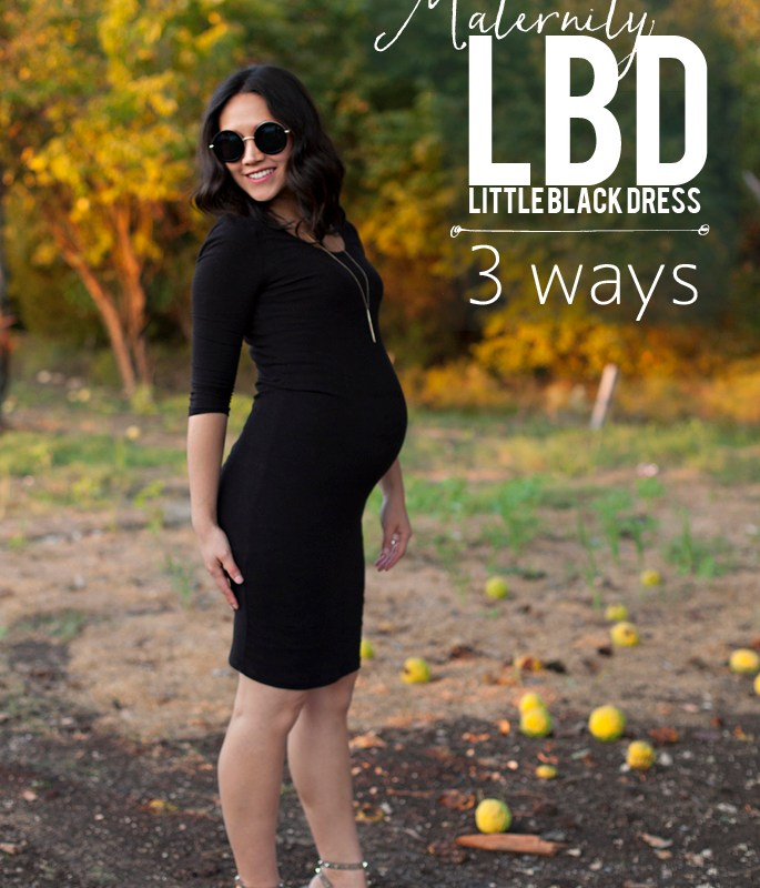 Maternity, Little Black Dress 3 Ways
