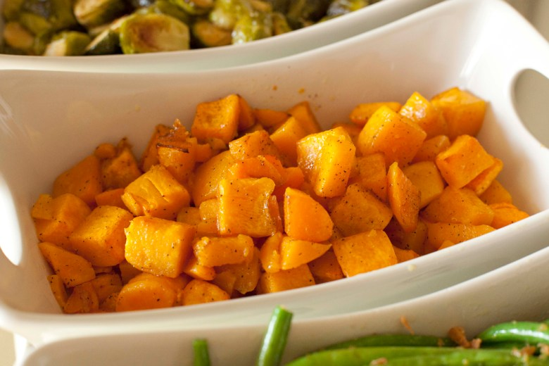 Easy & simple oven roasted butternut squash
