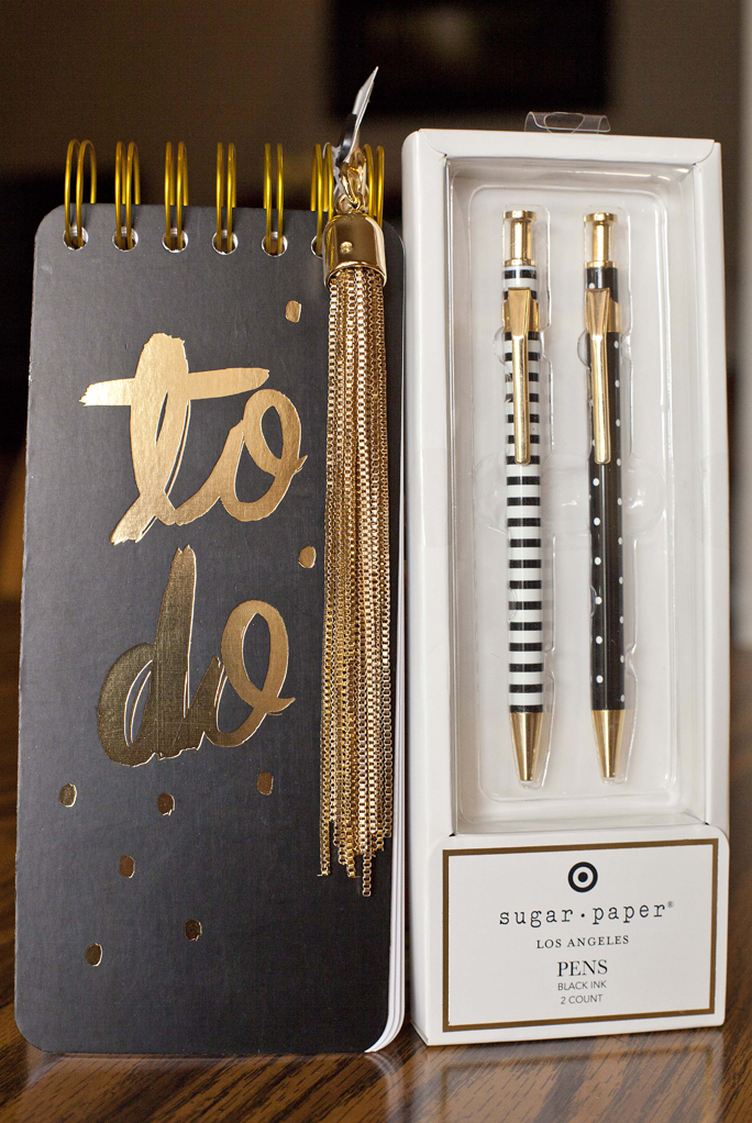 To do list, cute pens, Target, gift basket, tutorial, fringe, keychain, Christmas
