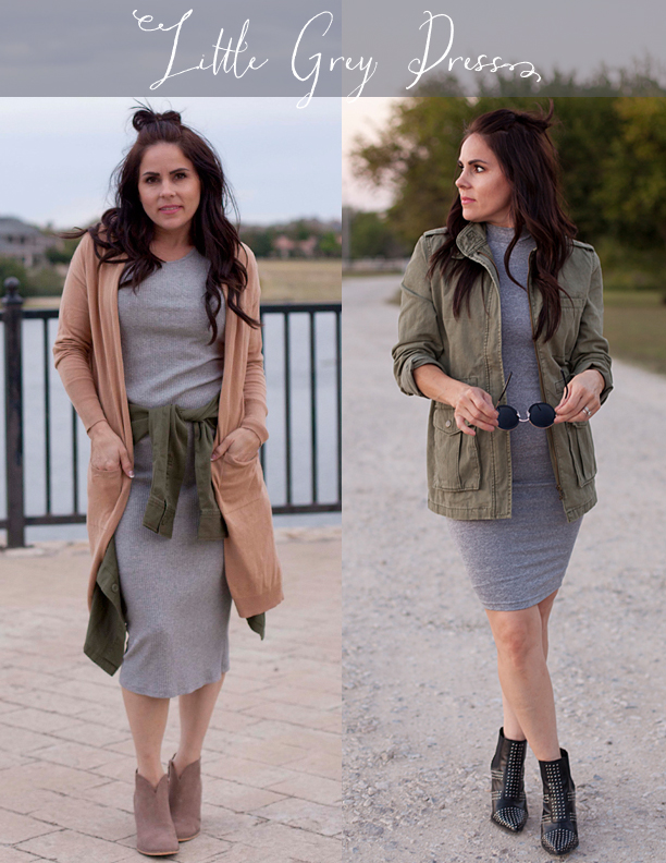dress with grey booties