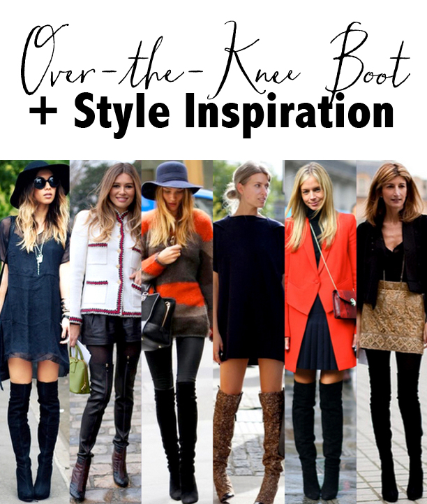 Over-the-knee boot, black leather, black suede, celebrity style, Stuart Weitzman