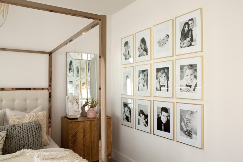 master bedroom gold frame wall collage picture 1_1