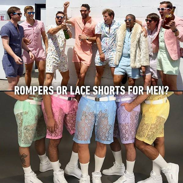 d269f5b8252c Lace Shorts and Rompers for Men Are Now a Thing - Blush Magazine