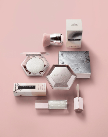 New Fenty Products with Pink background