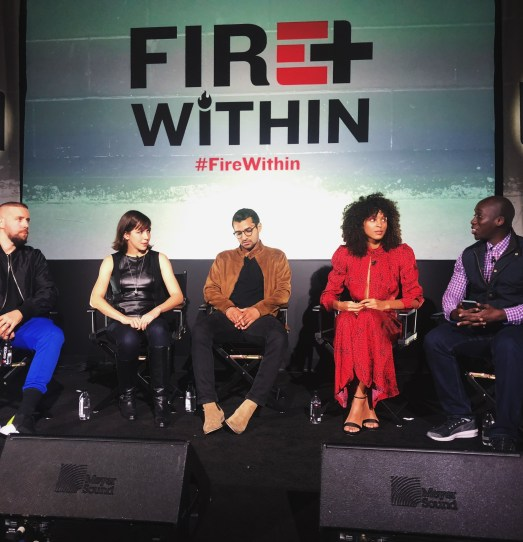 Panel discussion on Fire Within stage.