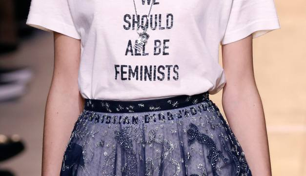 'We Should All Be Feminists' Dior Tee SS 17 (Photo Credit: Francois Guillot/AFP/Getty Images)