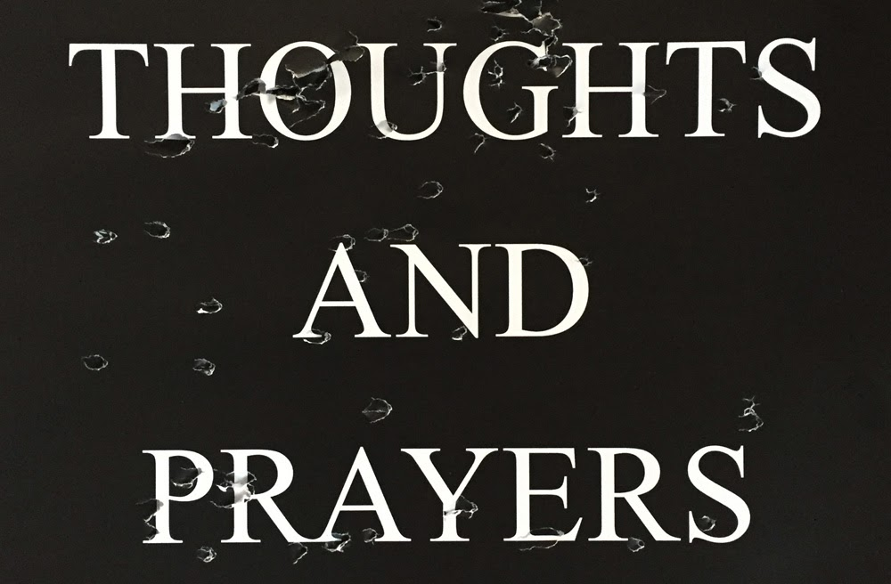 """Thoughts and Prayers"" Artwork by Sarah Maple, ""THOUGHTS AND PRAYERS"" Solo Exhibition, The Untitled Space, January 2019"