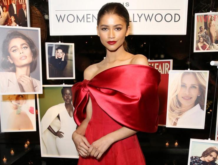 On February 21st Zendaya attended Lancome and Vanity Fair's toast to women in West Hollywood, California