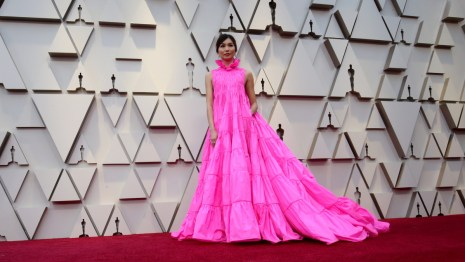 Gemma Chan on the Oscars red carpet