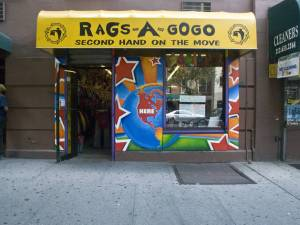 Storefront of Rags A Go Go