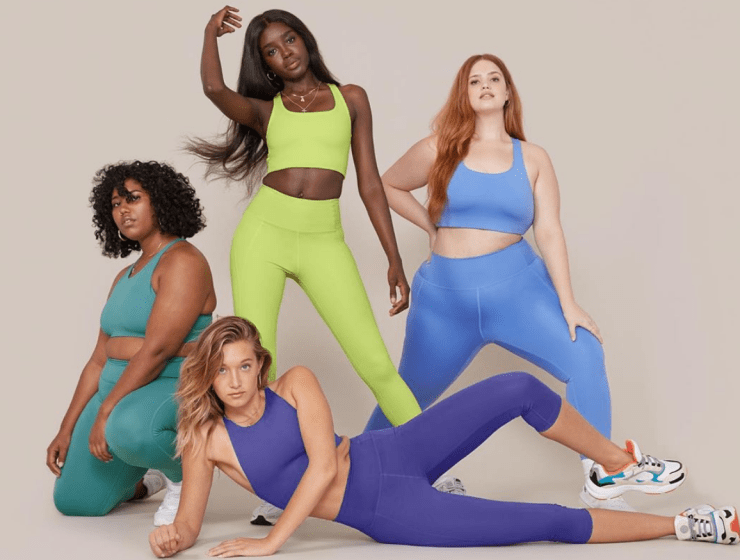 Image of Four girls wearing Girlfriend Collective workout clothes
