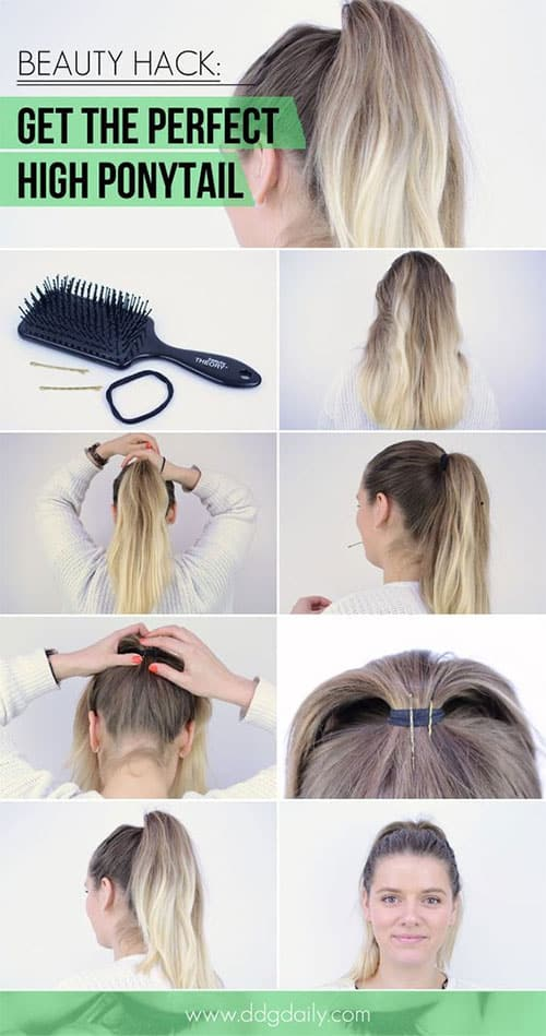 These Hacks Will Help You Get Perfect Half Up High Ponytail