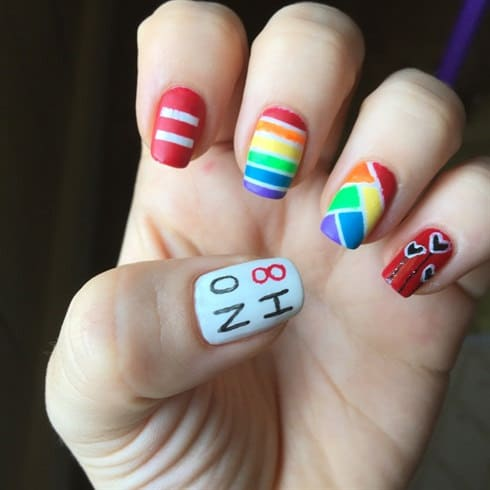 Some of the best Rainbow Nail Art Designs. 13