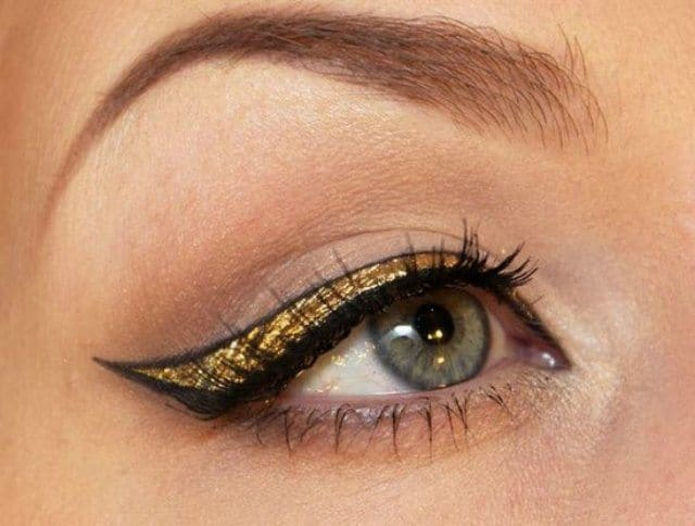 How can you use Golden Eyeshadow in different ways? 3
