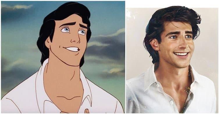 Disney princes realistic painting