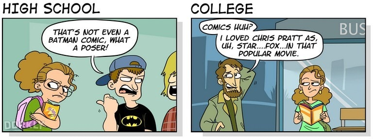 23 Hilarious Differences Between High School And College 8