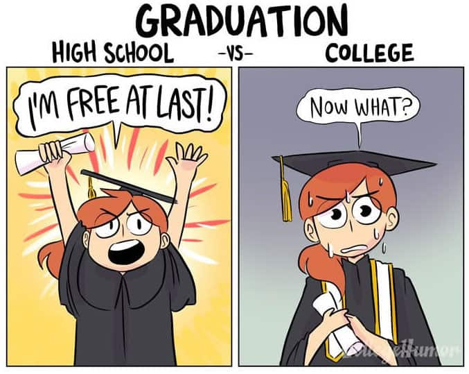 23 Hilarious Differences Between High School And College 16