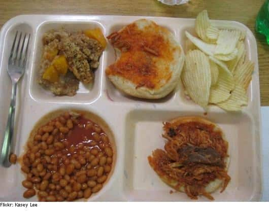 School cafeteria lunches at its worst. 8