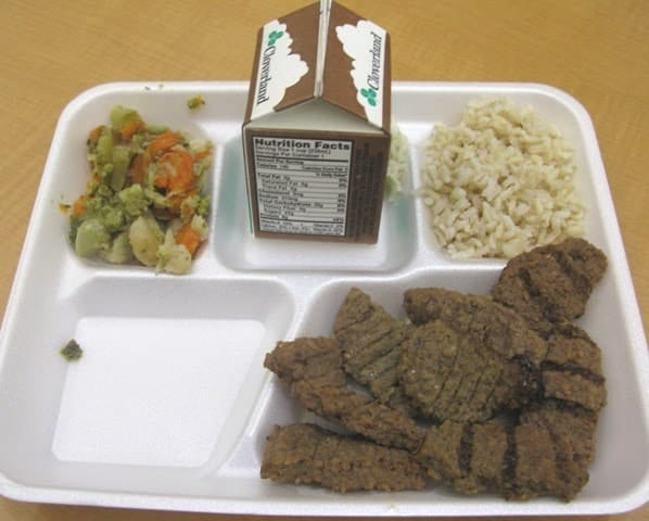 School cafeteria lunches at its worst. 3