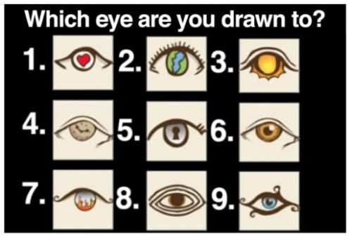 Personality Test: Which eye are you drwan to? 2