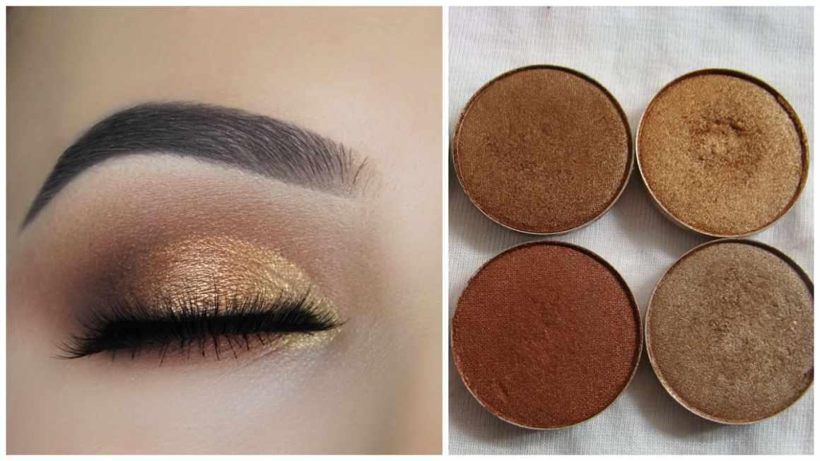 Copper eye makeup technique 1