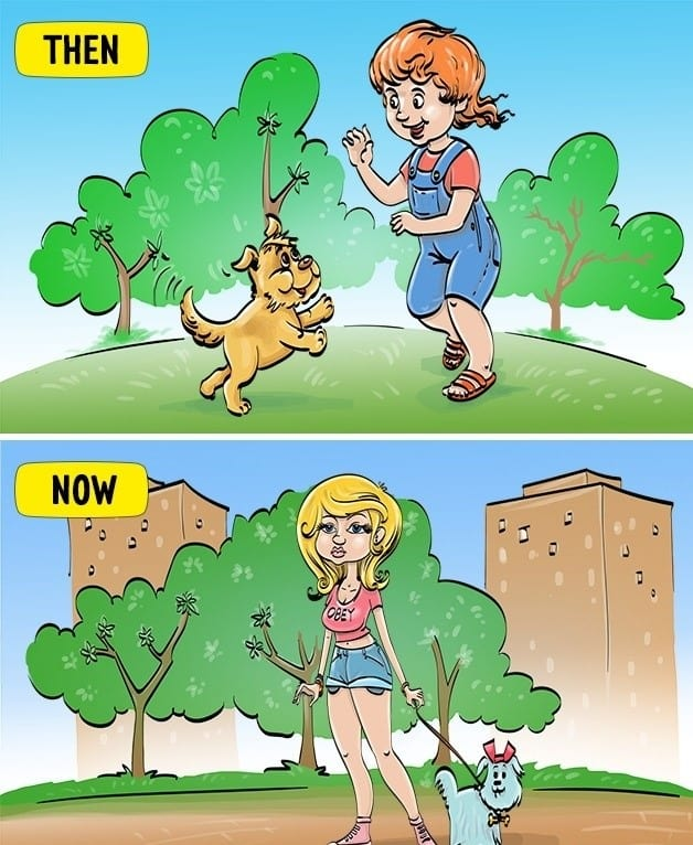 Comics Depicting The Differences In Today's Childhood From Our 2