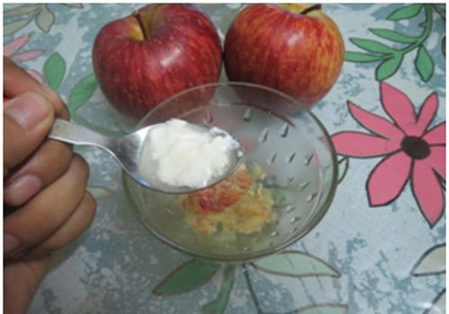apple face pack for oily skin