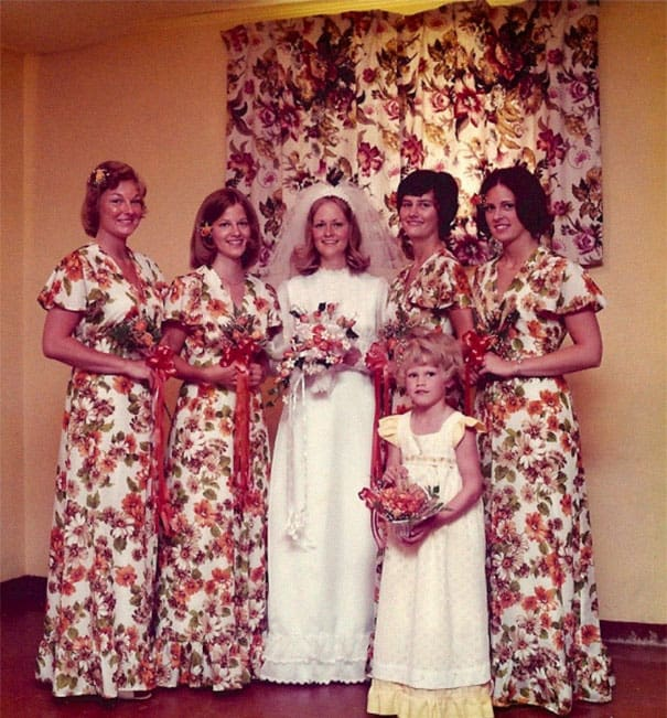Some Of The Ridiculous Bridesmaid Dresses That Have Over Time 3