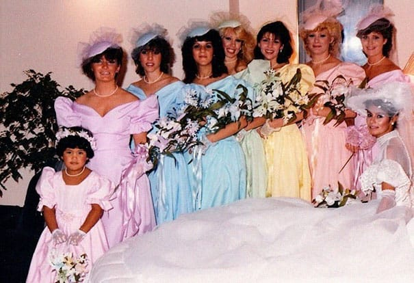 Some Of The Ridiculous Bridesmaid Dresses That Have Over Time 5