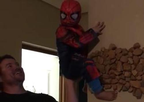 1 Cute Video Of A Small Kid Dressed As The Spider Man 3