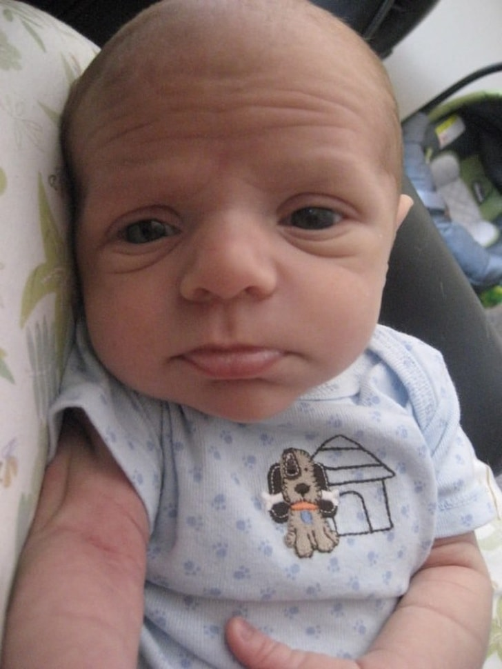 These 13 Best Babies Picture Expressions Who Might Look Older Than You 10