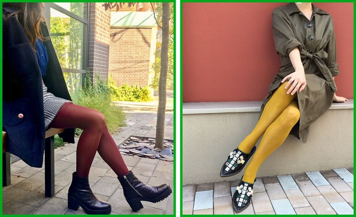 2 Ways To Combine Tights With Shoes And Clothes 4