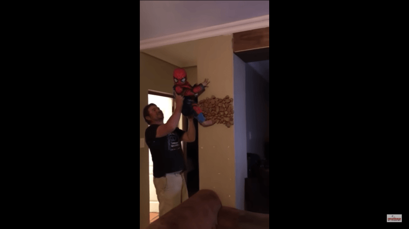 1 Cute Video Of A Small Kid Dressed As The Spider Man 4