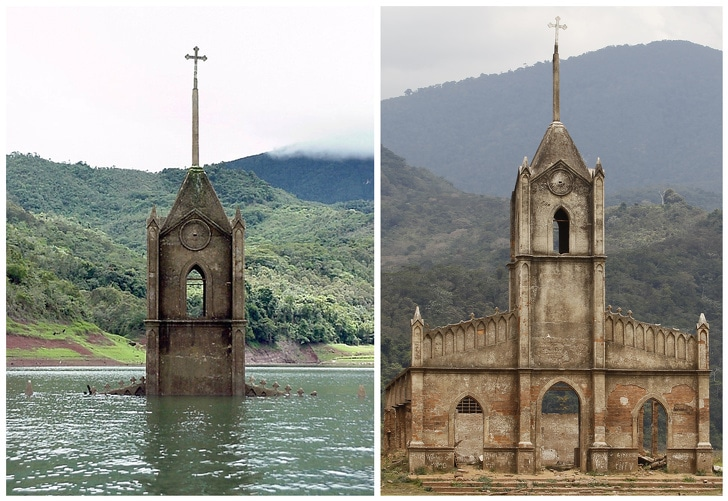 5 Attractive Underwater Submerged Places That Have Become Visible Once Again 2