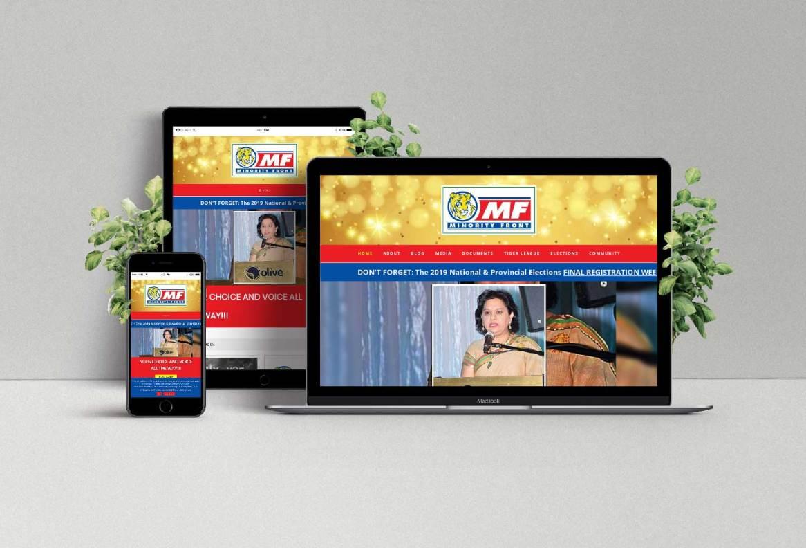 Minority Front Website Design by BluSilva