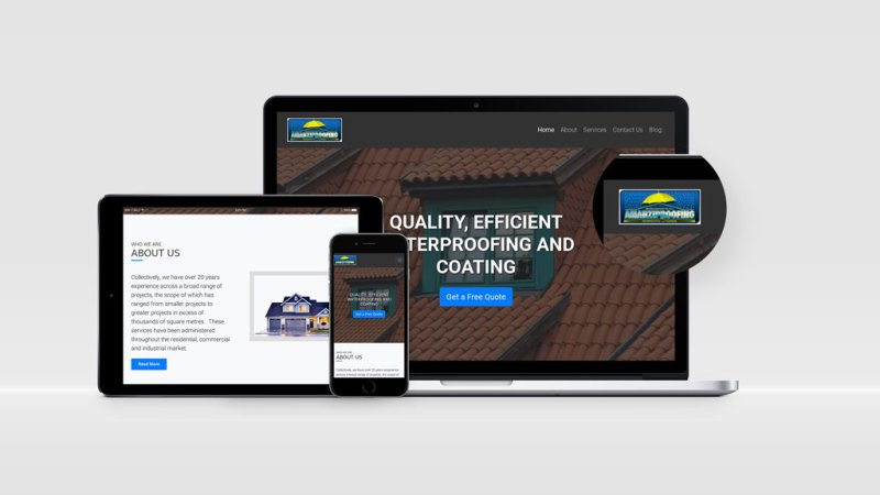 Amanziproofing Website Design By BluSilva