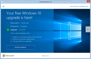 Your Windows 10 Upgrade available