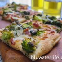 broccoli flatbread pizza ~