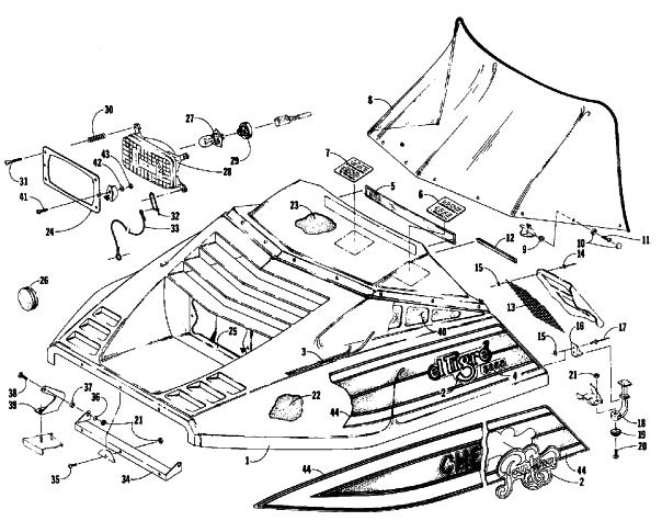 Arctic Cat Snowmobile Parts Fiche