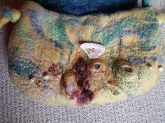 seashore felt bag wool silk shells blythwhimsies 5
