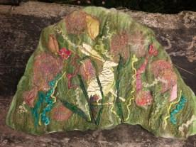 golden hare 3 felt wall art hanging blyth whimsies 2016-07-26 16.49.14
