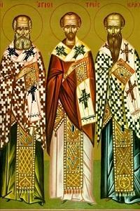 Василій Великий, Іоан Золотоустий, Григорій Богослов