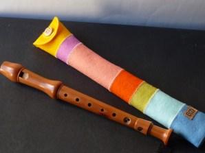 gestreifte Flötenhülle