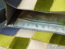 Handtasche, Patchwork Filz, Detail